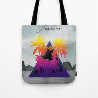 freedom Tote Bags featuring freedom by mark ashkenazi