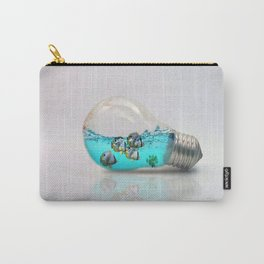 Fish In A Lightbulb Carry-All Pouch