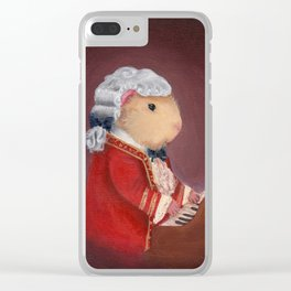 Guinea Pig Mozart Classical Composer Series Clear iPhone Case