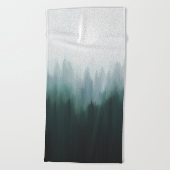 Autumn Fog | Green Edition Beach Towel