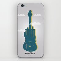 new york iPhone & iPod Skins featuring NEW YORK, NEW YORK by mark ashkenazi