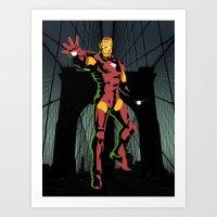ironman Art Prints featuring ironman  by mark ashkenazi