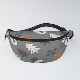 Snowmen and trees Fanny Pack