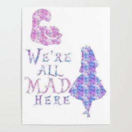 All MAD here splatter Poster