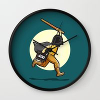 darth Wall Clocks featuring Darth Harry by Rabassa