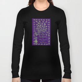 Pride and Prejudice, 1894 Peacock Cover in Purple Long Sleeve T-shirt