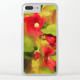 Hollyhock Clear iPhone Case