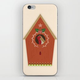 Red Bird House iPhone Skin