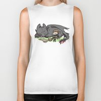 hiccup Biker Tanks featuring Sleepy Buddies by comickergirl