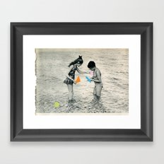 Washed Up Framed Art Print