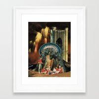 led zeppelin Framed Art Prints featuring led by messias
