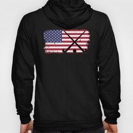 Field Hockey design USA American Flag designShirt Hoody