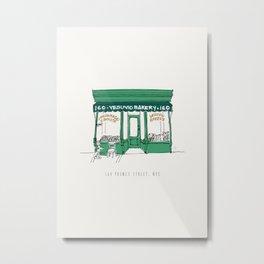 Vesuvio Bakery Storefront, NYC, New York City Metal Print