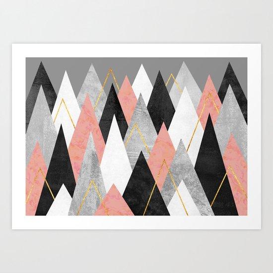 Rose Peaks Art Print