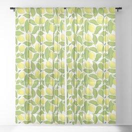 Lemon pattern Sheer Curtain