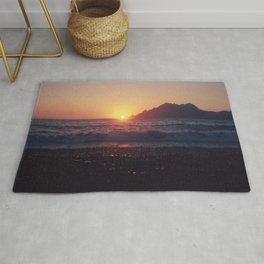 Crash into me - Romantic Sunset @ Beach #1 #art #society6 Rug