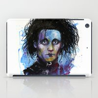 edward scissorhands iPad Cases featuring Edward Scissorhands by Jhaiku