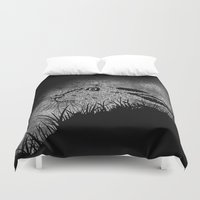 hare Duvet Covers featuring Hare by hardy mayes
