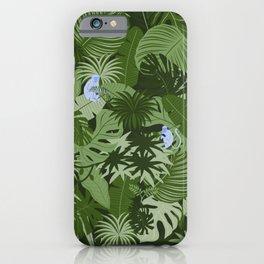 Blue Monkey Jungle iPhone Case