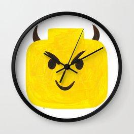 Emoji Minifigure Devil Wall Clock