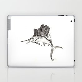 Surfing the fish Laptop & iPad Skin