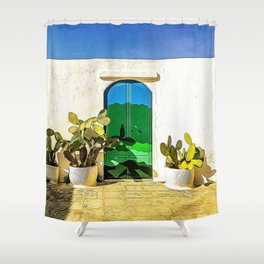 Typical house in Salento Shower Curtain