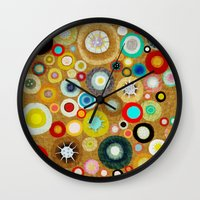 contemporary Wall Clocks featuring Contemporary Circles by Ruth Fitta Schulz