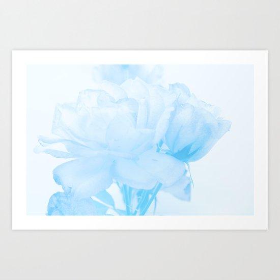 Gentleness #2 - #Soft #Blue #Rose #decor #art #society6 Art Print