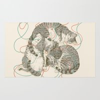supreme Area & Throw Rugs featuring cats by Laura Graves