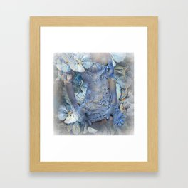 FLORAL AND LACE Framed Art Print