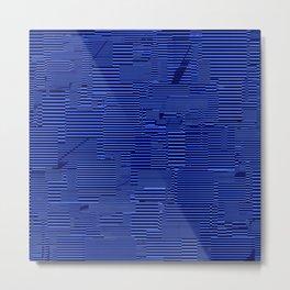 Blue irregular lines Metal Print