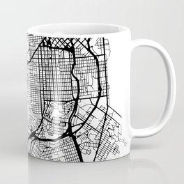 SAN FRANCISCO CALIFORNIA BLACK CITY STREET MAP ART Coffee Mug