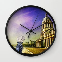 Return from the past.  Maritime Greenwich, England, UK Wall Clock