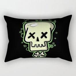Toxic skull and crossbones green Rectangular Pillow