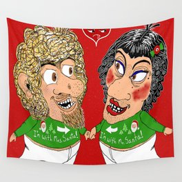 2 ugly Christmas sweaters...1 ugly couple...priceless! Wall Tapestry