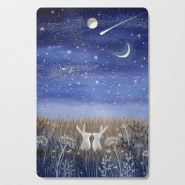 Hares and the Crescent Moon Cutting Board
