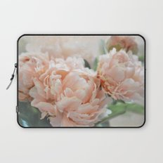 Peach Peonies Laptop Sleeve