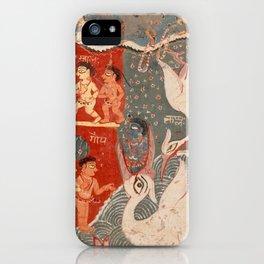 Krishna Kills the Crane Demon iPhone Case