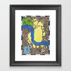Tiny Underdog City Map Framed Art Print