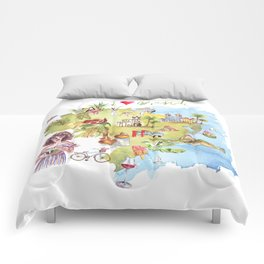 Brasil Map Comforters
