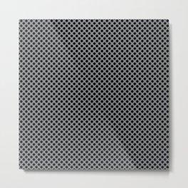 Sharkskin and Black Polka Dots Metal Print