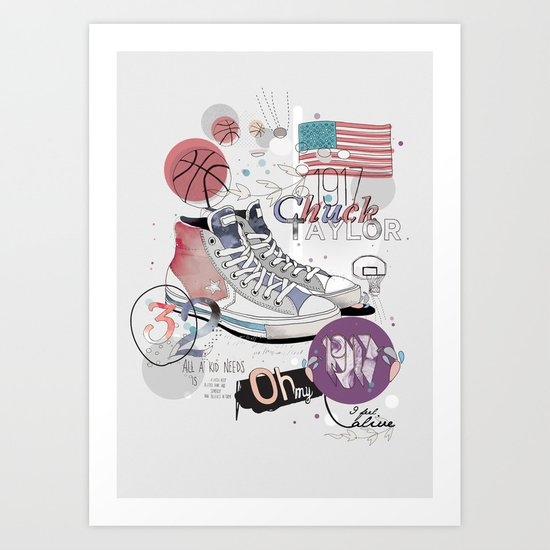 The Chuck Taylor Art Print