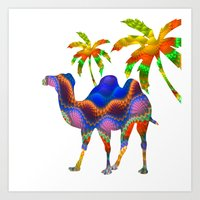 camel Art Prints featuring Camel by haroulita