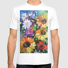 DANCE sunny color Mens Fitted Tee MEDIUM White