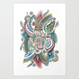 Twisted love for a sea butterfly Art Print