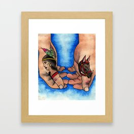 Thumbs Framed Art Print