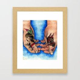 Thumbs Framed Art Print