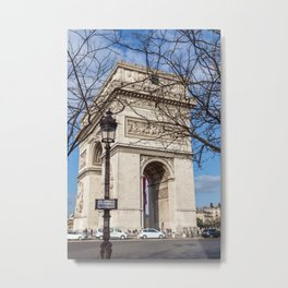 Paris, France: Arc de Triomphe Metal Print