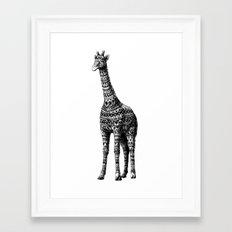 Ornate Giraffe Framed Art Print