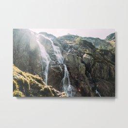 Waterfall In Sunlight | Siklawa Tatry Metal Print